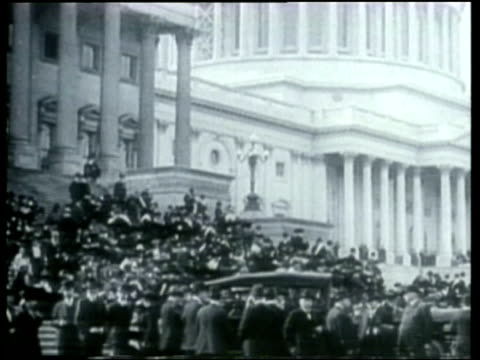 how we lived a montage depicts politicians and rallies during the early 1900s - 表す点の映像素材/bロール