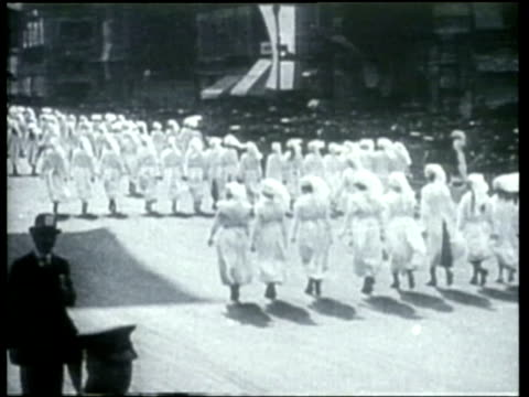 how we lived - red cross nurses during world war one - red cross stock videos & royalty-free footage