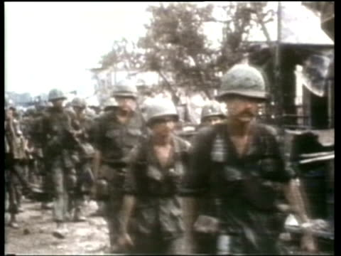 how we lived us troops in vietnam - newsreel stock videos & royalty-free footage