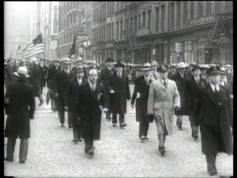 jewish veterans, and other outraged volunteers, stage a new york city protest against german persecution of jews. - nazism stock-videos und b-roll-filmmaterial