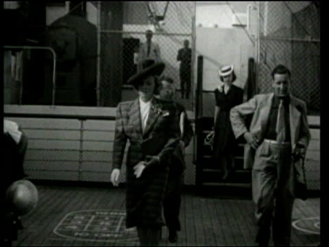 Universal Newsreel Marlene Dietrich poses for photographers on a ship