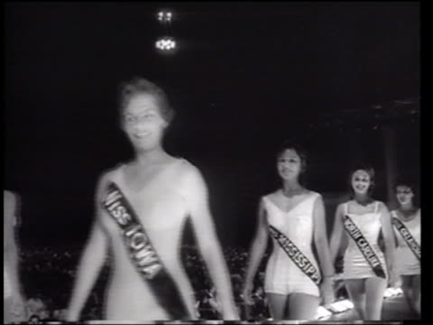 miss america pageant - newsreel stock videos & royalty-free footage