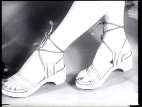 models wear the latest in shoe fashions. - footwear stock videos & royalty-free footage