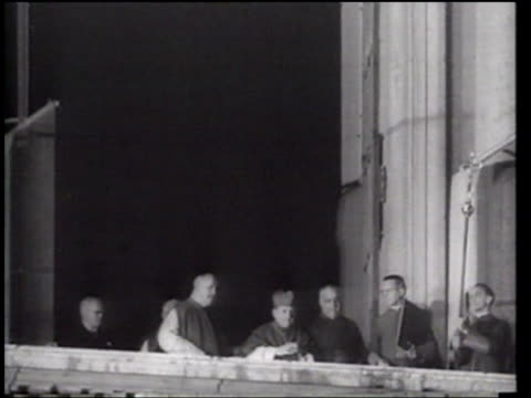 pope john xxiii is appointed at the vatican - pope john xxiii stock videos & royalty-free footage