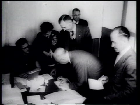president eisenhower wins 1956 election by a landslide for a second term in office - 1956 stock videos and b-roll footage
