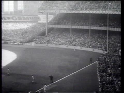 review of baseball season - 1956 stock-videos und b-roll-filmmaterial