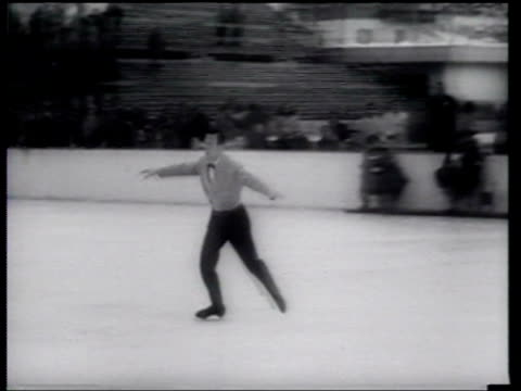 review of winter sports in 1956 - 1956 stock-videos und b-roll-filmmaterial