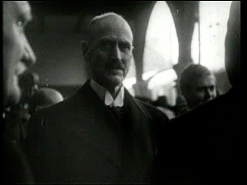 scandinavian leaders meet to discuss mutual defense against possible mutual enemies. - 1939 stock-videos und b-roll-filmmaterial