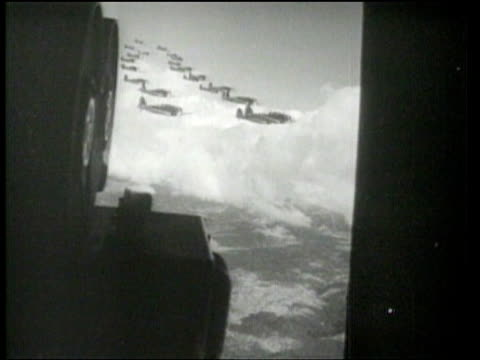 the 17th attack group gives a demonstration of northrup hornets at march field. - 1939 stock-videos und b-roll-filmmaterial