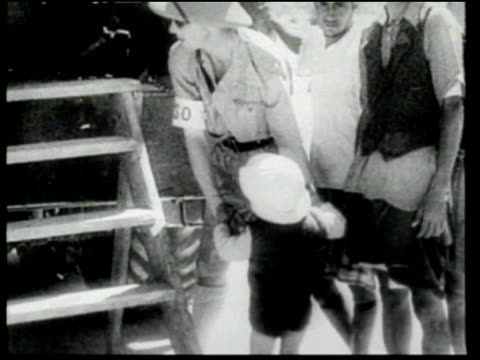 the british evacuate the wives and children of italians captured in ethiopia. - newsreel stock videos & royalty-free footage