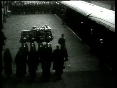 the english mourn the death of king george v - 1936 stock videos and b-roll footage