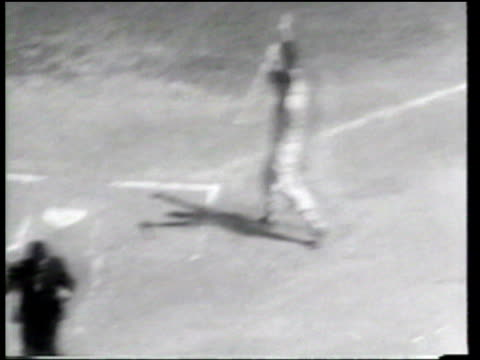 the national league defeats the american league, in the all star game, on a stan musial home run in the 12th inning. - inning stock videos & royalty-free footage