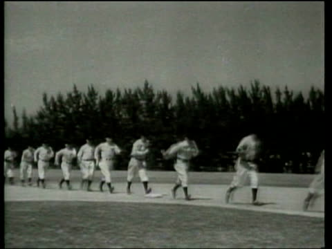 The New York Yankees go through their daily workout at the Saint Petersburg Florida spring training camp