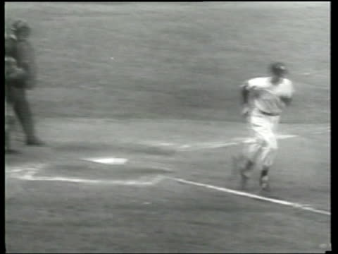 the new york yankees win the 1950 world series - newsreel stock videos & royalty-free footage