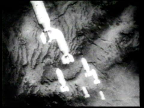 us bomb japan military bases - bomba video stock e b–roll