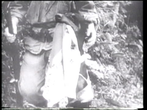 US Marines and soldiers take casualties as they capture Okinawa