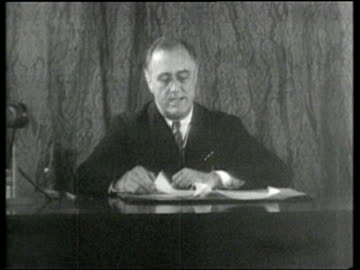 president franklin roosevelt outlines the new deal for the united states. - us president stock videos & royalty-free footage