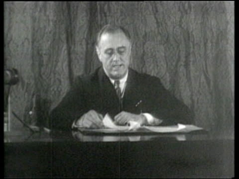 vídeos y material grabado en eventos de stock de us president franklin roosevelt outlines the new deal for the united states - franklin roosevelt