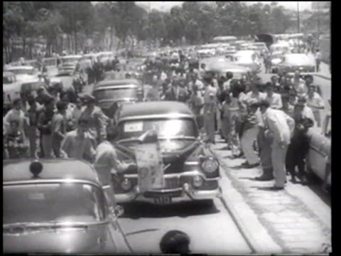vice president nixon visits venezuela - 1958 stock videos & royalty-free footage