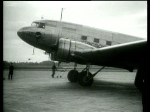 viscount runciman returns from czechoslovakia - air vehicle stock videos & royalty-free footage