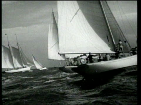 Yachts compete in the Sir Thomas Lipton Cup Race