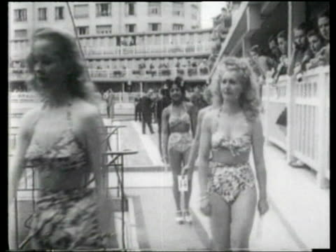 Young women compete in a beauty contest