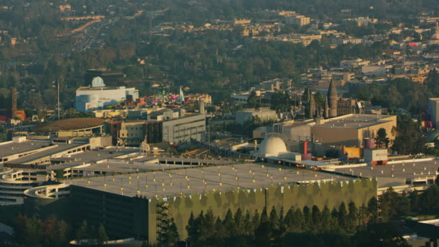 aerial universal studios hollywood, california - film studio stock videos & royalty-free footage