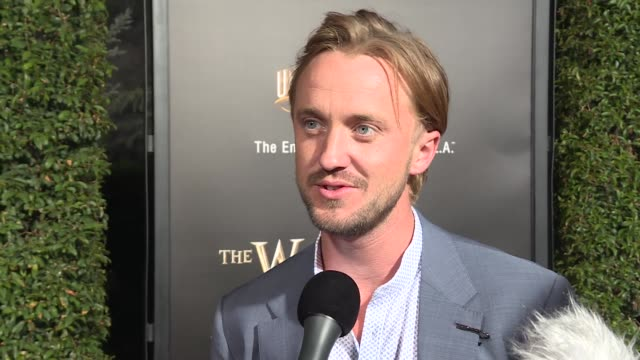 the wizarding world of harry potter red carpet interviews - tom felton stock videos & royalty-free footage
