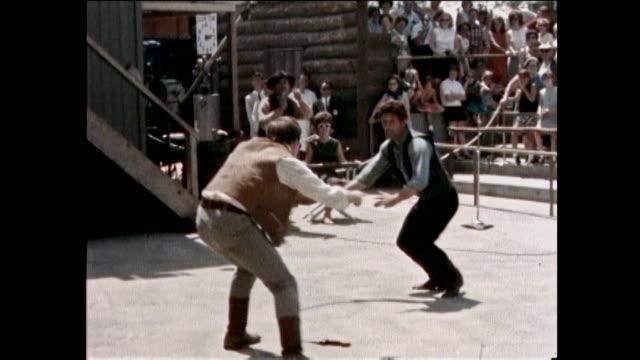 universal studios tour 1960s - stunt person stock videos & royalty-free footage