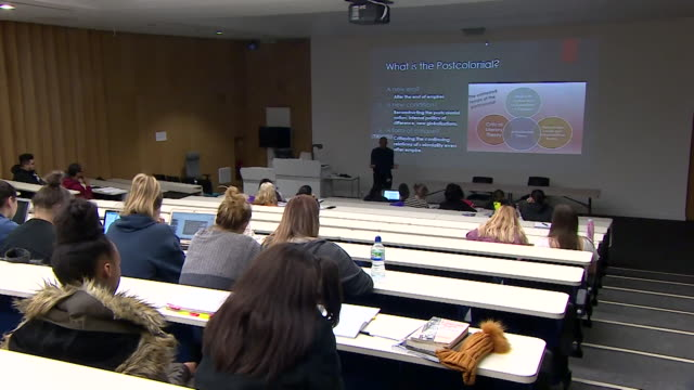 university lecture being given by black academic professor kehinde andrews - professor stock videos & royalty-free footage