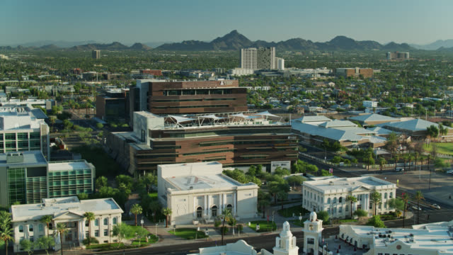 university of arizona in downtown phoenix - aerial view - arizona stock videos & royalty-free footage