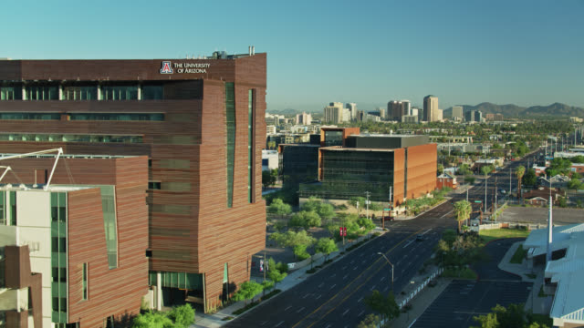 university of arizona, phoenix - aerial establishing shot - arizona stock videos & royalty-free footage