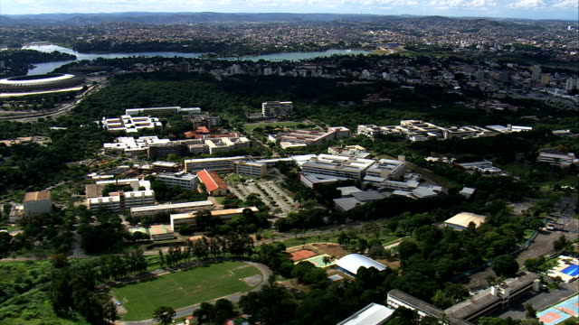 university of belo horizonte  - aerial view - minas gerais, belo horizonte, brazil - belo horizonte stock videos and b-roll footage