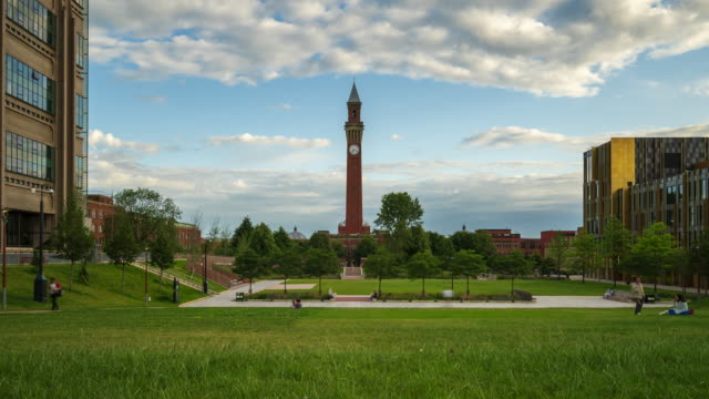 university of birmingham, 4k time-lapse, uk - birmingham england stock videos & royalty-free footage