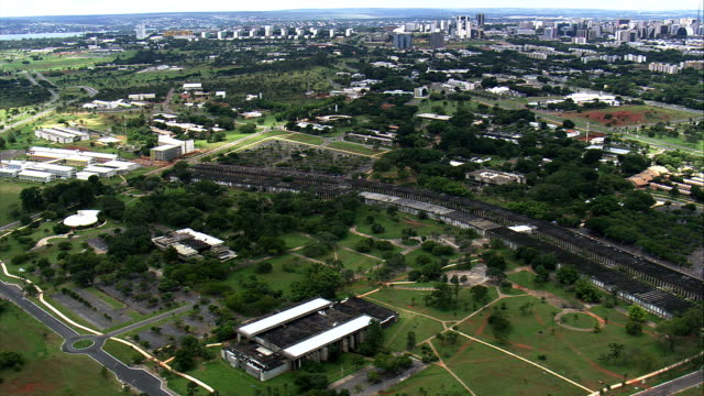university of brasilia  - aerial view - federal district, brasília, brazil - brasilia stock videos and b-roll footage