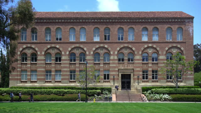 stockvideo's en b-roll-footage met university of california at los angeles campus - school building