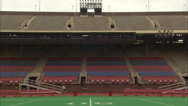 atmosphere university of pennsylvania football stadium - ncaa college football stock videos and b-roll footage