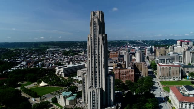 university of pittsburgh cathedral of learning - cathedral stock videos & royalty-free footage