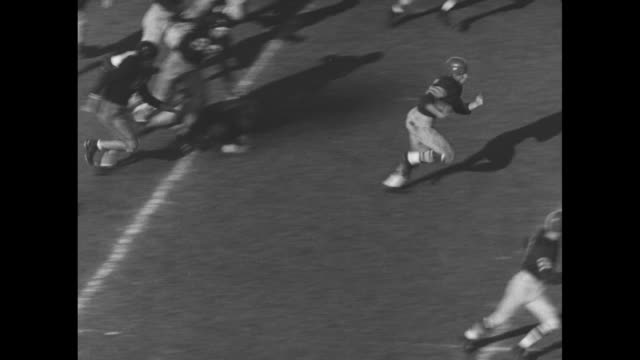 university of southern california trojans player frank gifford #16 makes long run for touchdown during game against university of california... - ncaa college football stock videos and b-roll footage