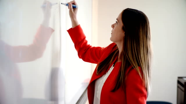 university professor teaches using whiteboard - whiteboard stock videos & royalty-free footage