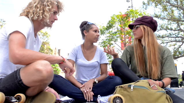univesity students chatting at the campus - australian aborigine culture stock videos & royalty-free footage