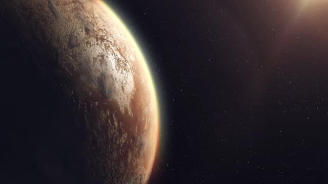 stockvideo's en b-roll-footage met onbekende planeet buiten ons zonnestelsel - buitenaards wezen