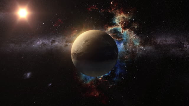 unknown planet beyond our solar system - space exploration stock videos & royalty-free footage