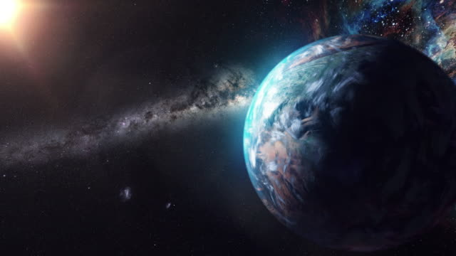 unknown planet beyond our solar system - star field stock videos & royalty-free footage