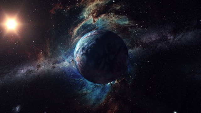 unknown planet beyond our solar system - galaxy stock videos & royalty-free footage