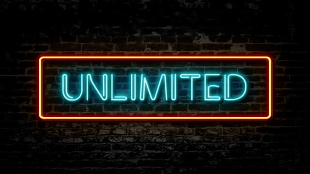 Unlimited neon sign