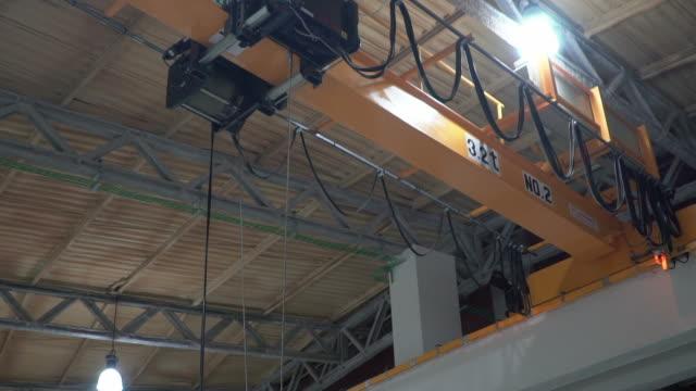 unloading cargo container - macchinario edile video stock e b–roll