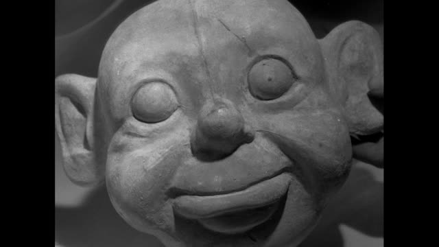 cu unpainted puppet faces; 1956 - puppet stock videos & royalty-free footage