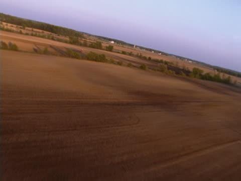 Unplanted farm fields