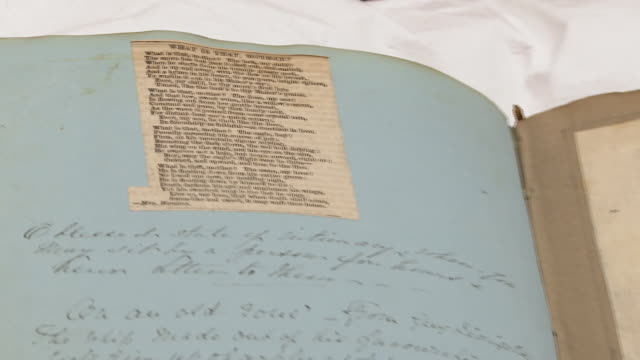 unpublished letters, documents and books written by charles dickens in the charles dickens museum - charles dickens stock videos & royalty-free footage